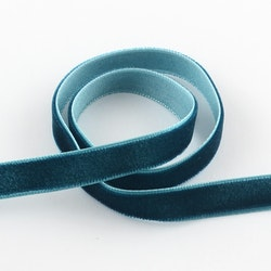 Sammetsband teal 10mm