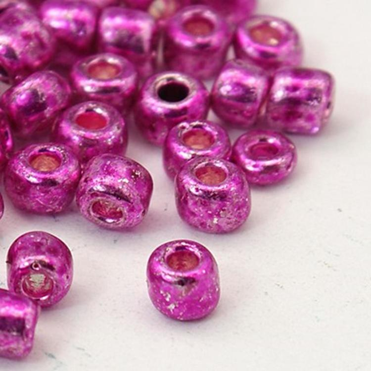 Seedbead 4 mm rosa metallic
