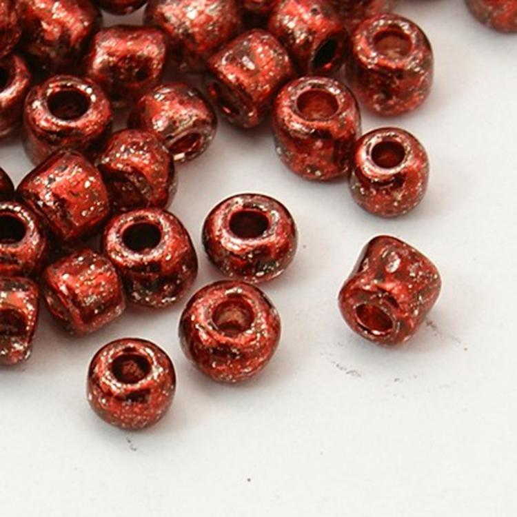 Seedbead 4 mm brons metallic