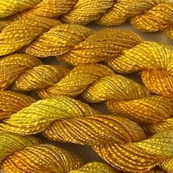 Broderigarn Silke struktur gul