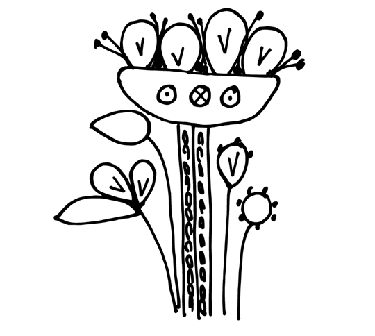 Blomma yllebroderi mönster