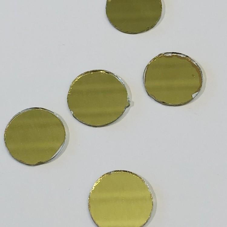 Spegel rund 15mm guld 3-p