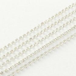 Strasskedja silver kristall