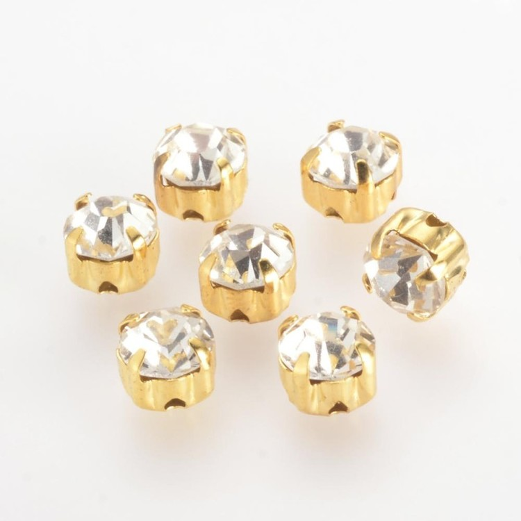 Strasspärla guld 15-p