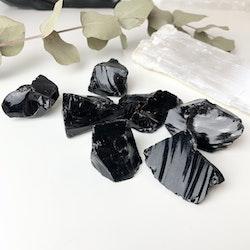 Obsidian, råsten