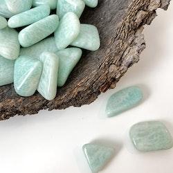 Amazonit, trumlade stenar