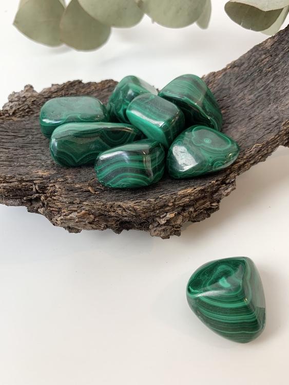 Malakit, trumlade stenar