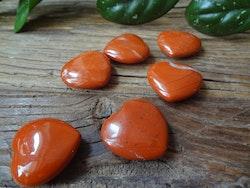 Jaspis hjärta - röd