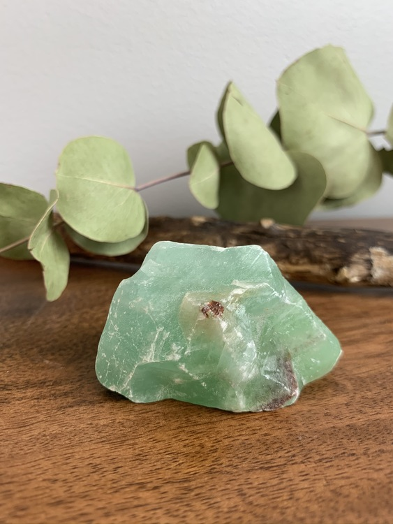 Rå grön Kalcit