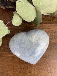 Blå kalcit, stort hjärta, välj din egen
