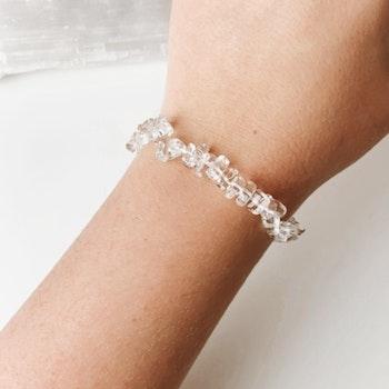 Bergkristall (clear quartz), healingarmband