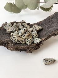 Dalmatiner jaspis, trumlade stenar