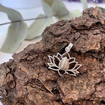 Lotushänge i sterling silver och Jaspis