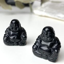 Buddha av svart Obsidian