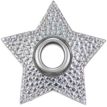 Öljett stjärna silver