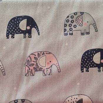 Bomullspolin med elefanter