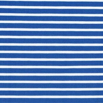 Blåvit rand smal