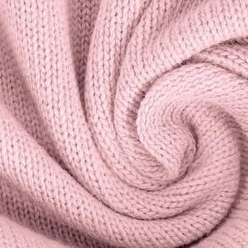Stickat tyg rosa