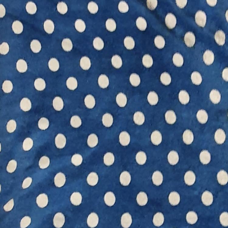 Velour blågrå prick