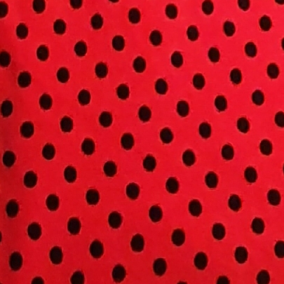 Velour rödsvart prick