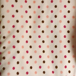 Velour rosaröd prick