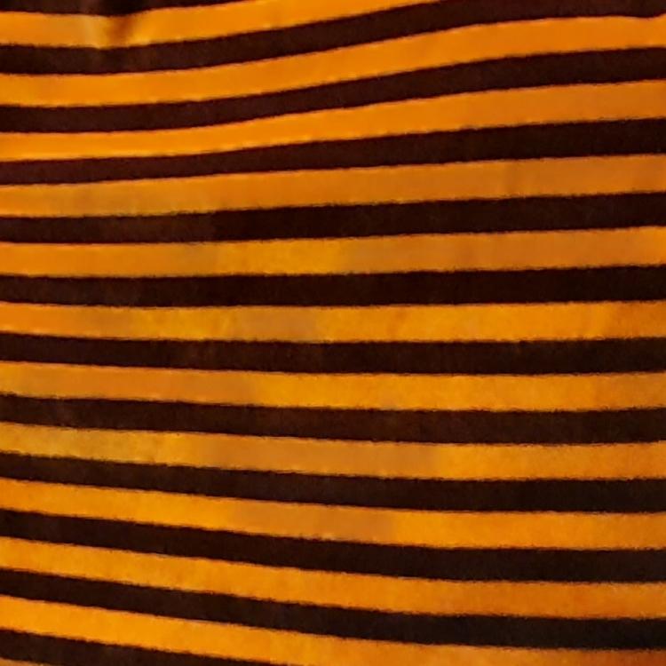 Velour orwngebrun rand