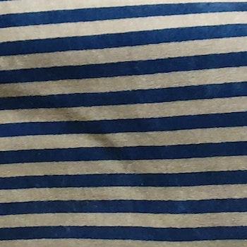 Velour blågrå rand