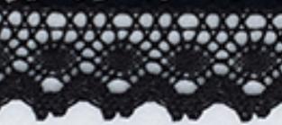 Spets svart 33 mm