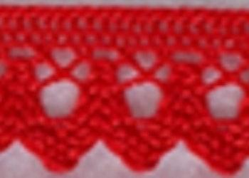 Spets 18mm röd