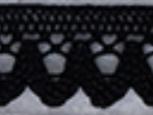 Spets 18 mm svart