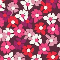 Rosaröda blmmor