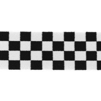 Schackruta svartvit 40 mm