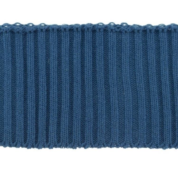 Jeansblå ribbmudd