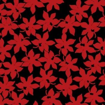 Blomma rödsvart