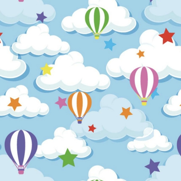 Ballong/moln blå