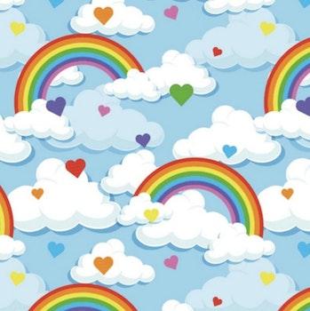 Regnbåge/moln blå