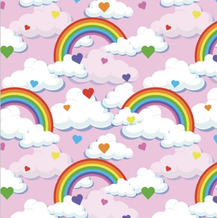 Regnbåge/moln rosa