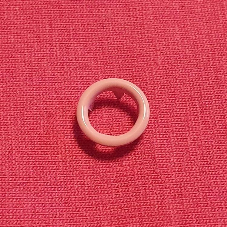 Tryckknapp cirkel rosa