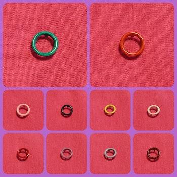 Tryckknappar cirkel 10 färger