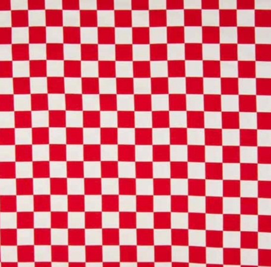 Schackruta rödvit