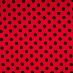 Prick rödsvart