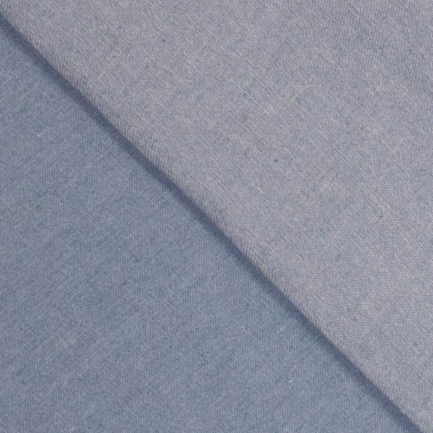 Bomullsbatist ljusblå jeanslook