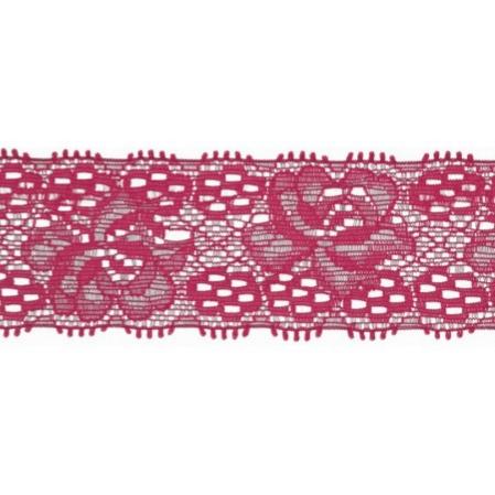 Spets 3 cm fuchsia