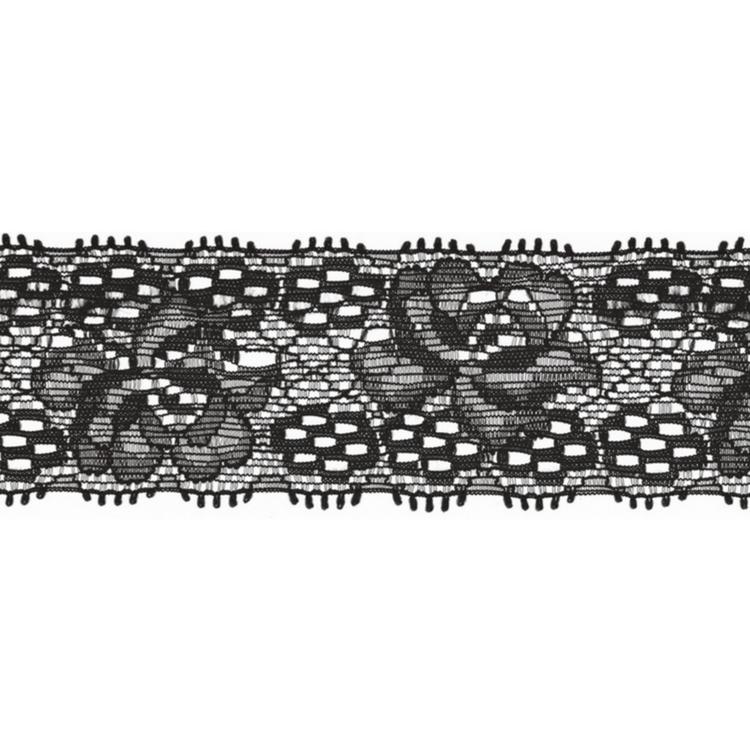 Spets 3 cm svart