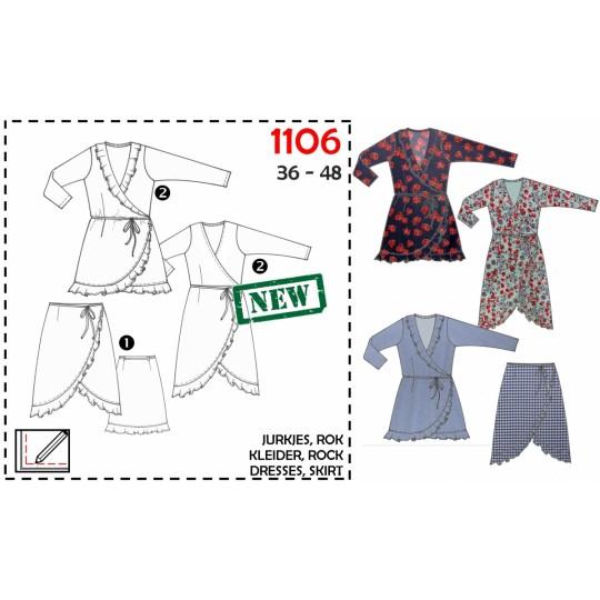 It's A fits 1106 Omlottklänning Omlottkjol