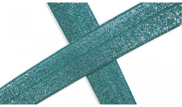 Vikresår med glittereffekt 20 mm smaragdgrön