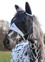 Shires Fine Mesh Fly Mask with Ears - hål för pannlugg