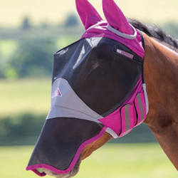 Shires Deluxe Fly Mask With Ears & Nose