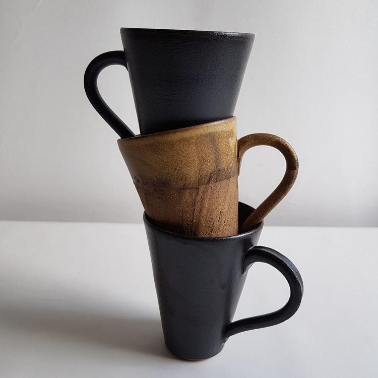 Tekopp / Stor Kaffekopp i Serien Svart Granit