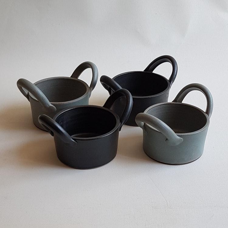 Gratängform Mini i Serien Svart Granit /ca 1 person